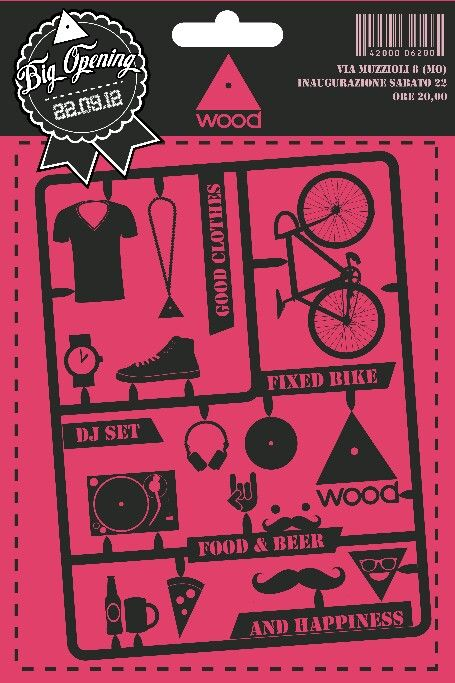 Flyer for Wood by Alessandro Fantoni Cool design idea! Literary - cool flyer ideas