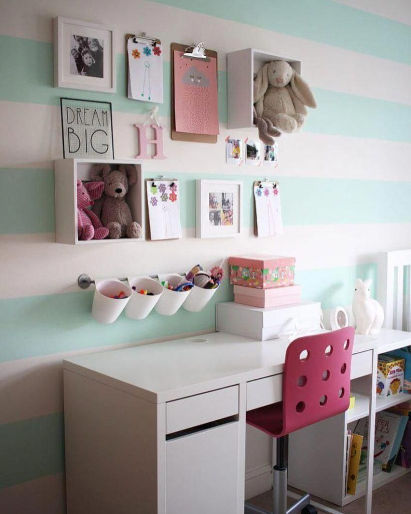 26 Adorable Kid Room Decor Ideas To Make Your Children S Space Fun In 2020 Study Room Decor Girls Room Colors Cute Bedroom Decor