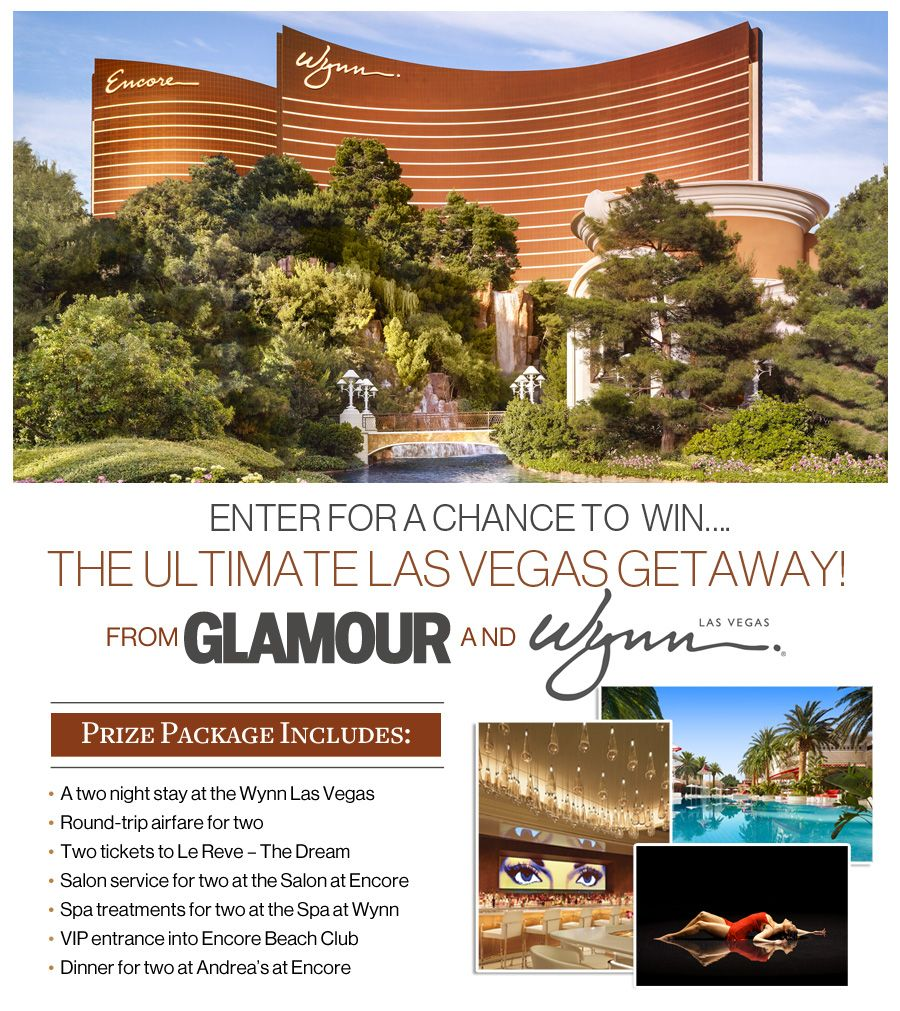 Glamour Magazine Sweepstakes Vegas getaway, Las vegas