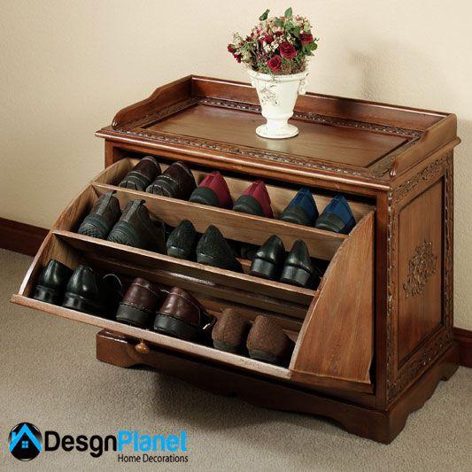 shoe rack bench design   Home Decorations   desgnplanet.net ...