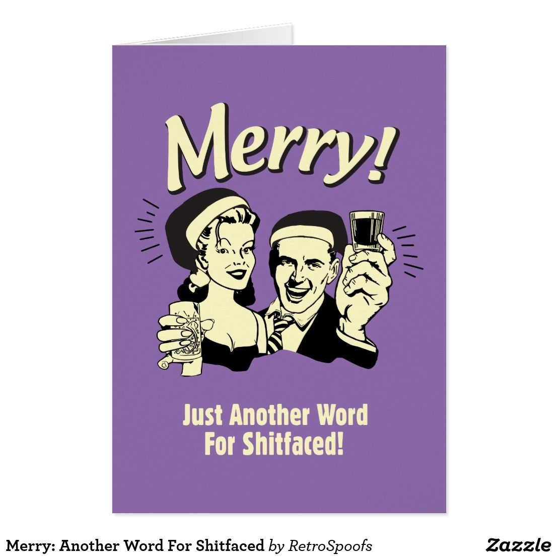 Merry another word for shitfaced pinterest merry merry another word for shitfaced card m4hsunfo