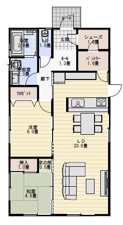 注文住宅の平屋の間取り2ldk 平屋間取り 20坪 間取り 間取り 平屋 間取り 20坪