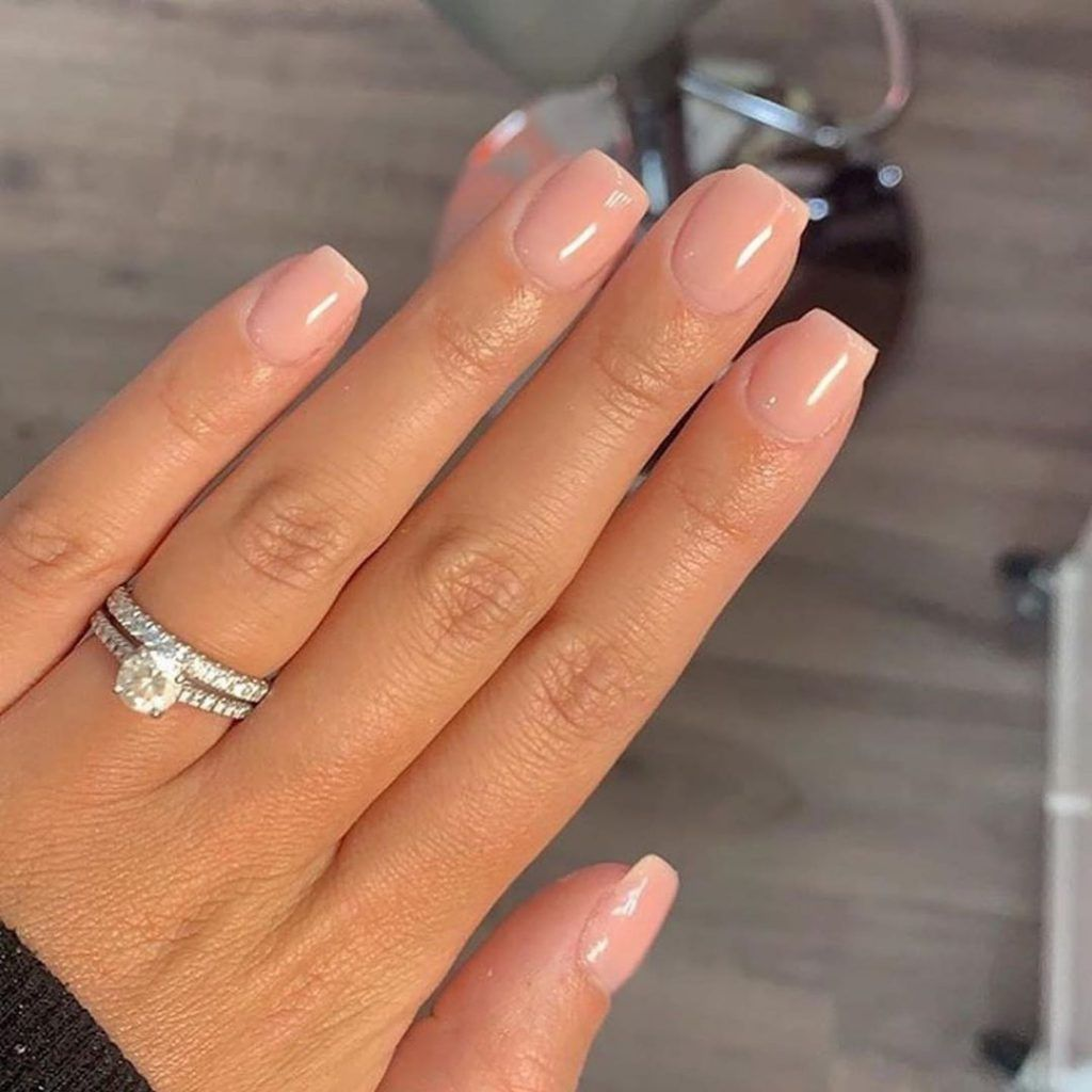 10 short natural nude nail styles you must love - ibaz
