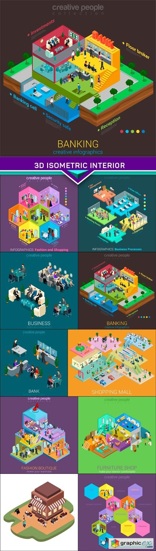 3d isometric interior mall business concept vector 10x eps stock 3d isometric interior mall business concept vector 10x eps stock images gumiabroncs Choice Image