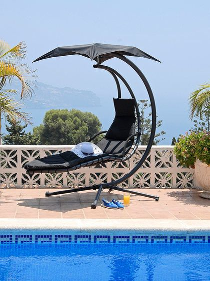Helicopter Dream Chair Swing Hammock Sun Lounger Seat Hanging Chaise Steel Stand