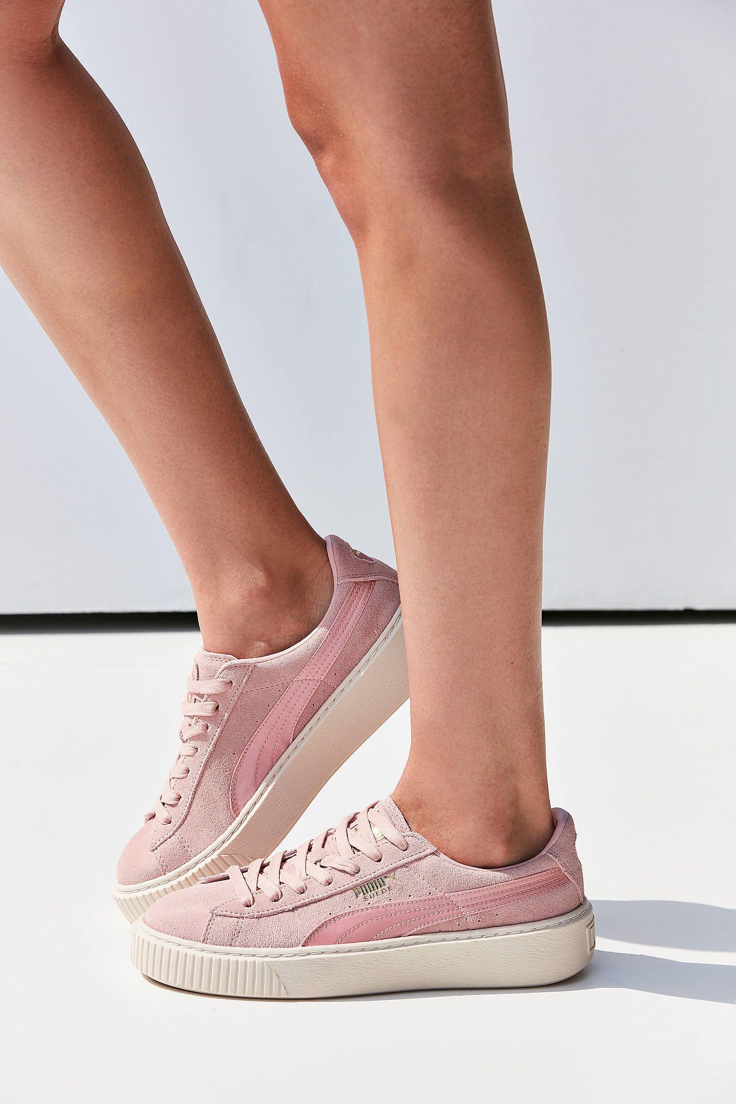 size 40 6bfd9 50507 Slide View: 5: Puma Suede Summer Satin Platform Sneaker ...