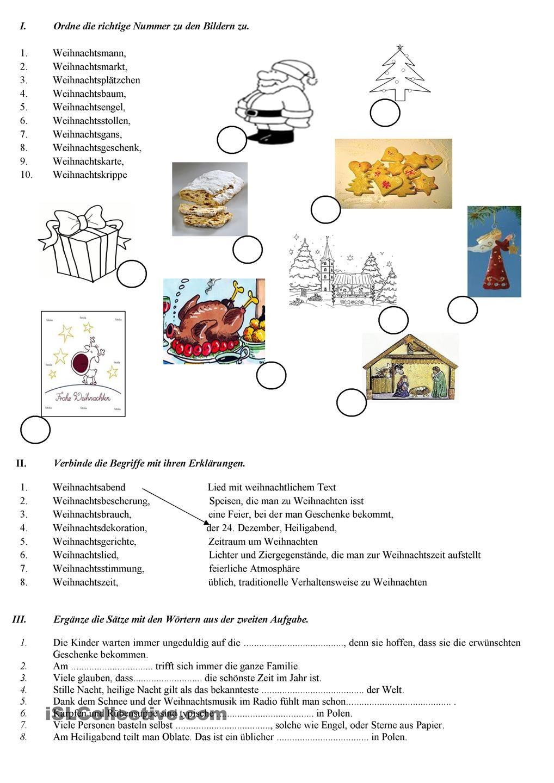 Weihnachten | Tysk undervisning | Pinterest | Weihnachten, Deutsch ...