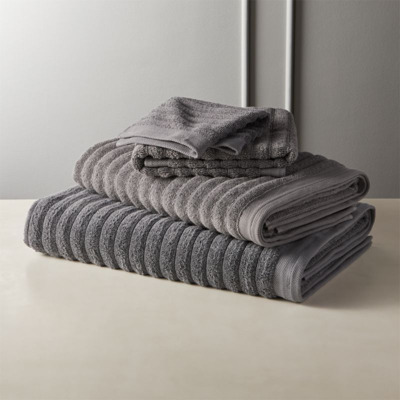 Channel Grey Cotton Bath Towels In 2020 Cotton Bath Towels Decorative Bath Towels Soft Bath Towels