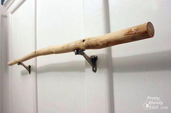 Diy Stick Towel Rod I Was Thinking Something Similar To This As
