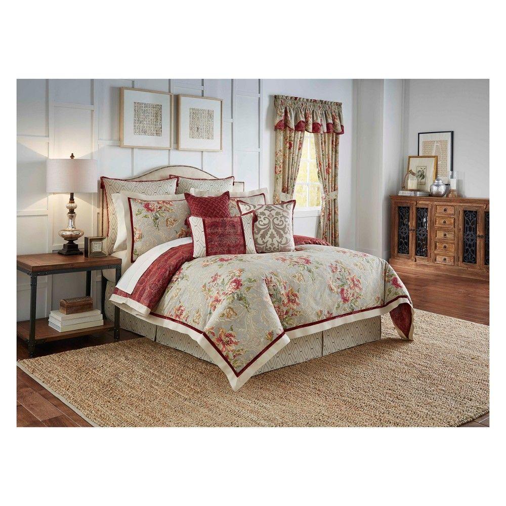 Floral Fresco Flourish Reversible Comforter Set (Queen