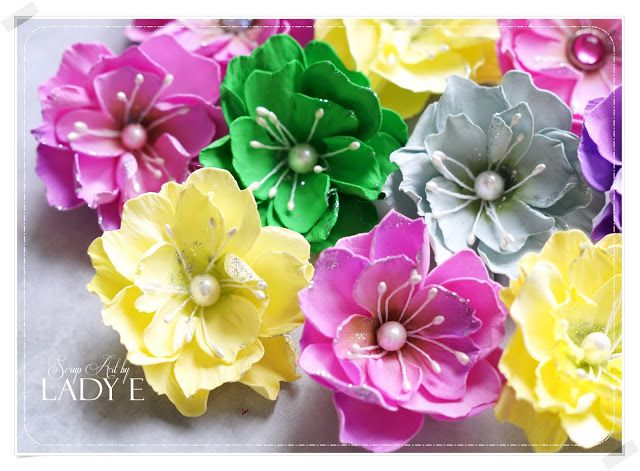 Foamiran flowers foam flowers pinterest flowers craft fairs foamiran flowers paper flowershandmade mightylinksfo