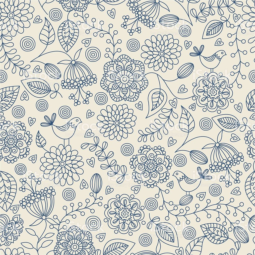 Seamless Pattern With Flowers Hihg Res Jpg Included 花柄