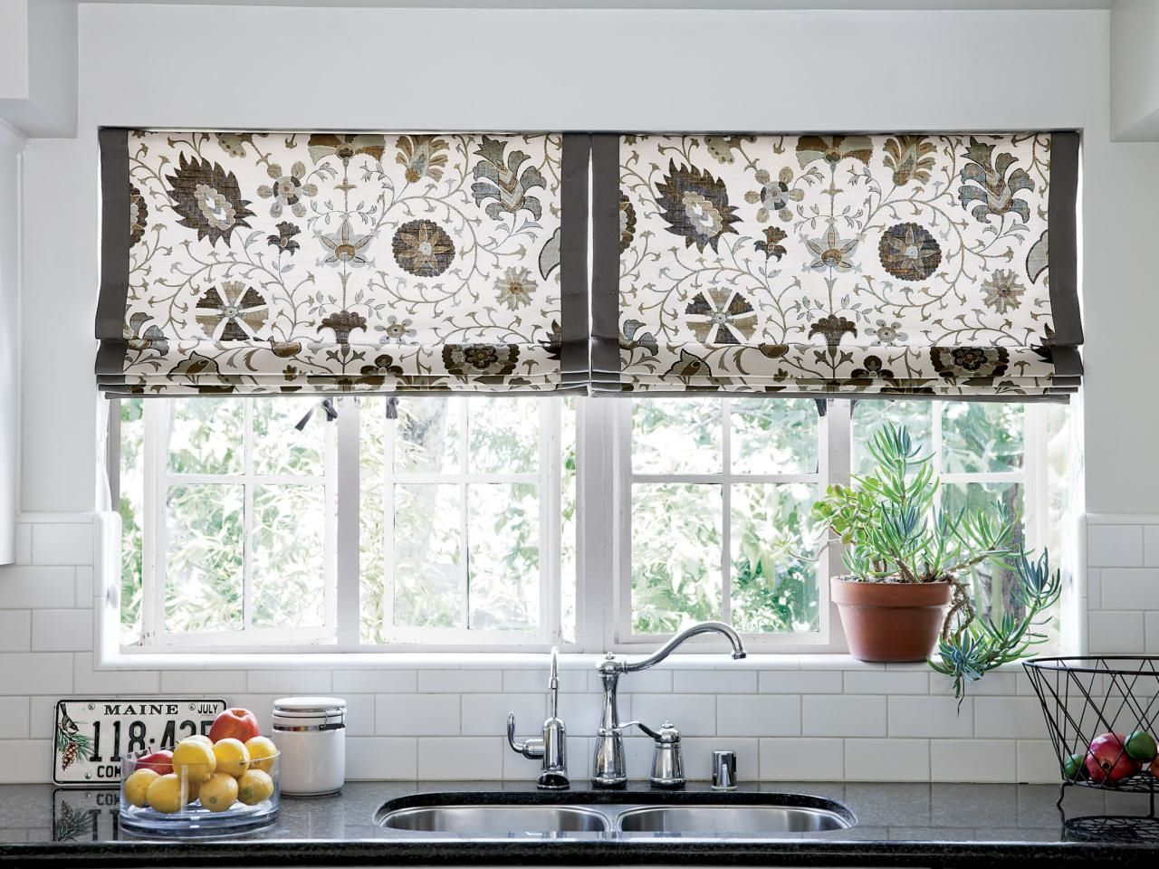 Creative Kitchen Window Treatments Hgtv Pictures Ideas Window Toppe ...