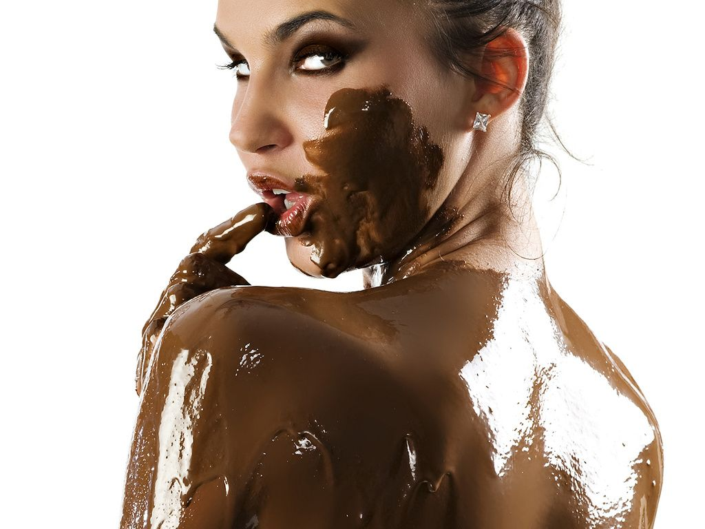 Chocolate sexy woman