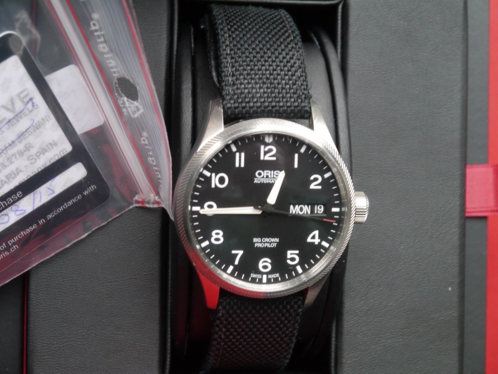 Oris Watch Big Crown Propilot Day Date Textile Strap Oris Watches Strap Watches