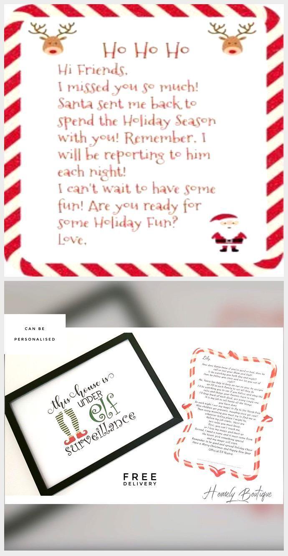 Free Printable Elf on the Shelf Arrival Letter Sprinkle