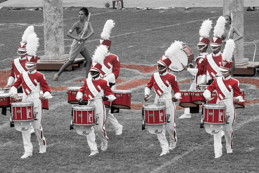 Drumline of the Munford High School Marching Band.