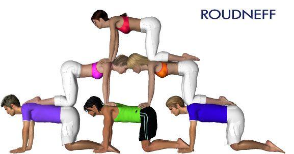 Citaten Yoga : Eps sport figurines d acrogym pyramides à ada