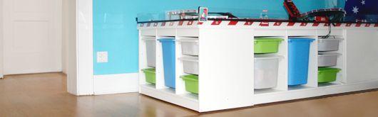 Babyzimmer selber bauen  Aufsatz für Autorennbahn für IKEA TROFAS Regale selber bauen | Kids ...