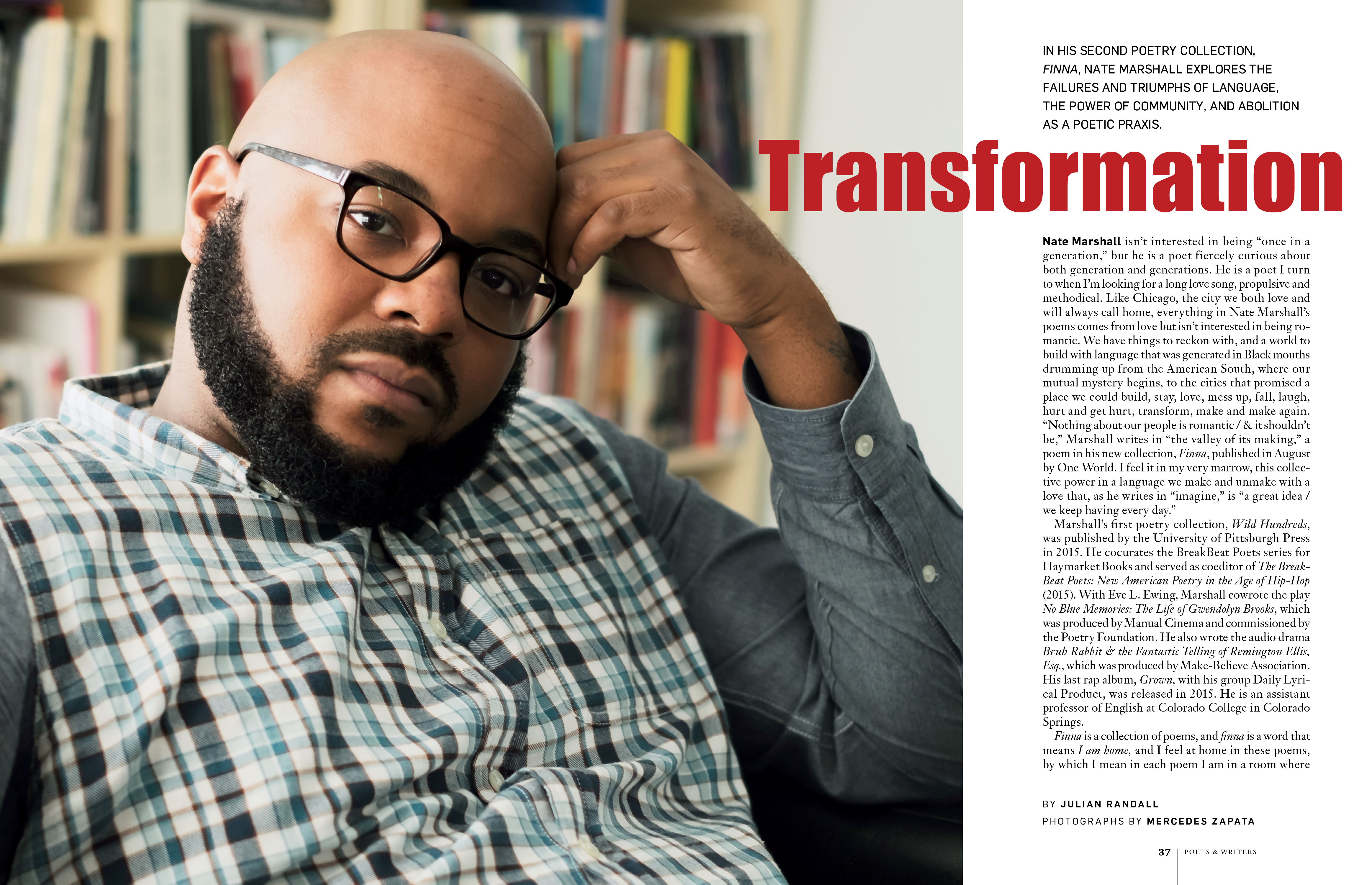 Transformation A Q A With Nate Marshall Poetry Collection Marshall Poetry