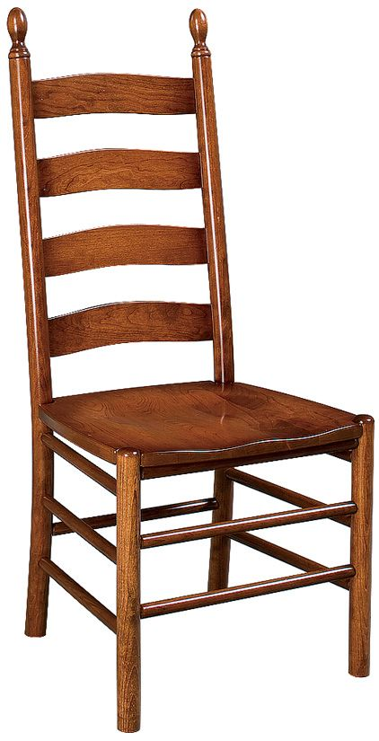 Amish Unfinished Shaker Ladderback Side Chair (Z27W)
