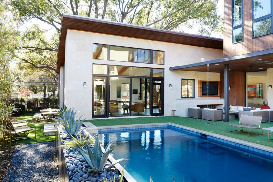 Architecture Modern house in Dallas by Risser