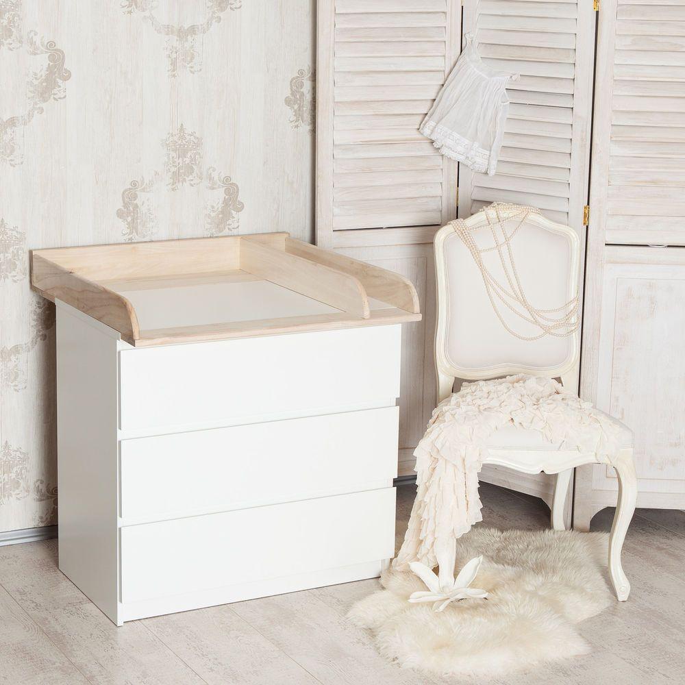 """H+"""" Bois naturel + séparation! Plan à langer pour IKEA Malm ..."""