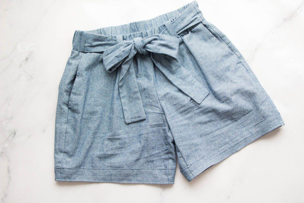 Anleitung: Shorts Wrapped mit Hosenaufschlag nähen - Schnittduett
