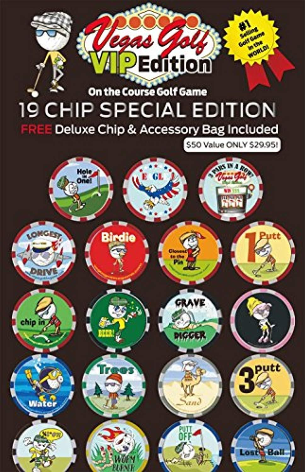 Vegas Golf VIP Edition 19 chip Game with Free Deluxe Tee Bag