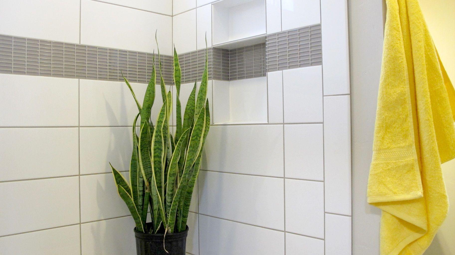 Master shower porcelain ceramic tile large format subway colour ...