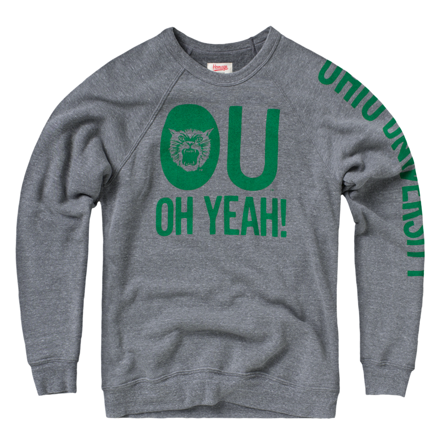 Homage Ou Oh Yeah Crewneck Sweatshirt 60 00 Sweatshirts University Shirt Ohio University Apparel [ 900 x 900 Pixel ]