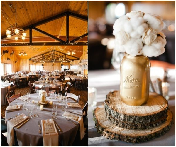 Country Wedding Reception Ideas: Spray Painted Mason Jars! Hey Sherrie, This Is Is Great
