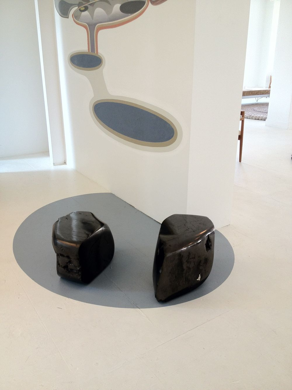 Sculptural Coal Tables Carved From Nearly 100% Anthracite By Jim Zivic.  Available Exclusively Through Ralph Pucci International.