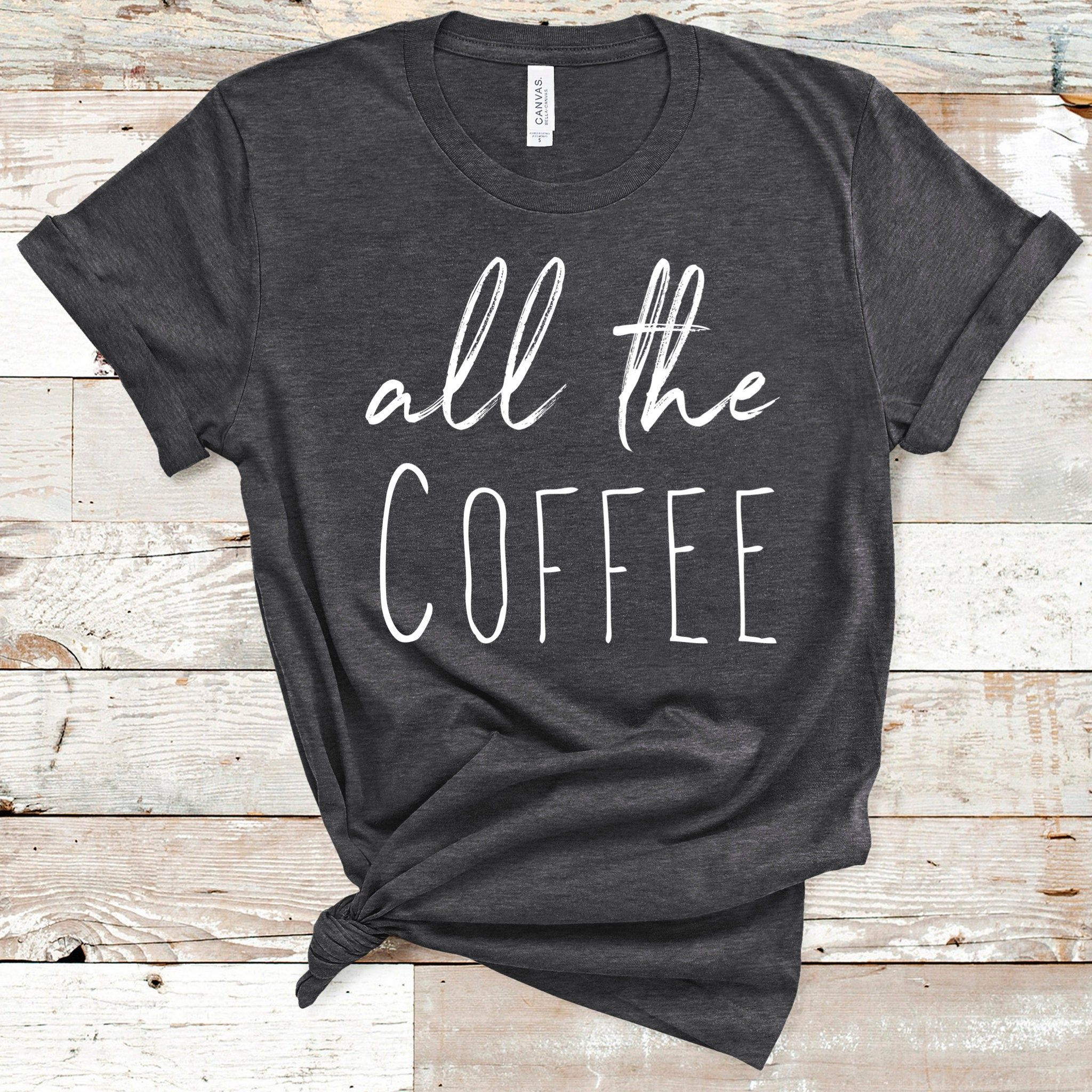 Running on coffee Shirt for women mom life shirt popular | Etsy