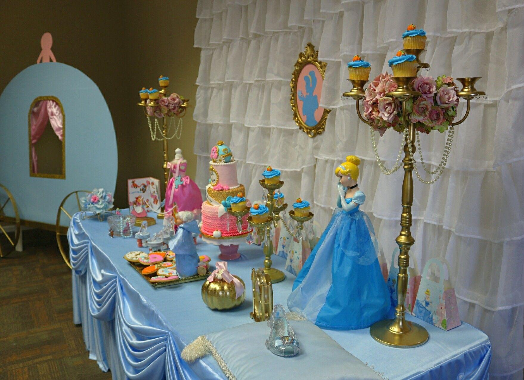 Cinderella Dessert Table Cinderella Birthday Party Cinderella Birthday Dessert Table