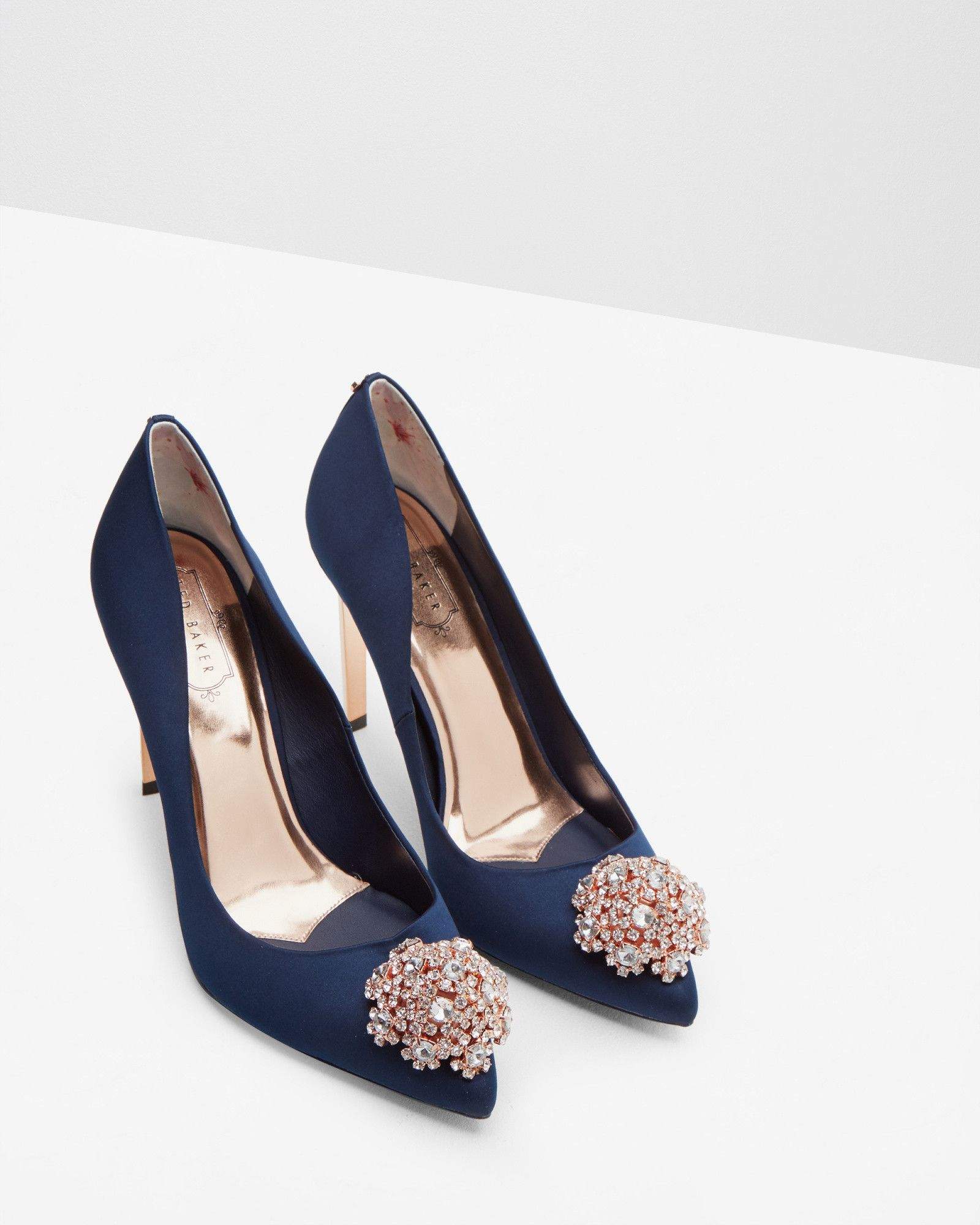 a96bc563d58 Brooch detail court shoes - Navy