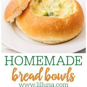 Homemade Bread Bowl Recipe {+VIDEO}   Lil' Luna   Recipe ...