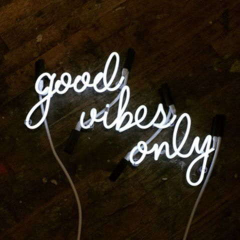 9 Neon Signs That Keep Those Home Vibes Lit Neon Signs Neon Sign Bedroom Good Vibes Only