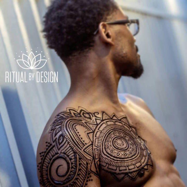 Henna Tattoo For Guys: Ritual By Design Henna Chest- Amazing!