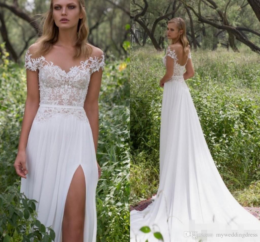 Lace beach wedding dresses online