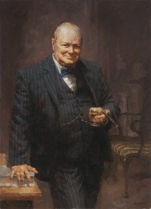Churchill by Andy Thomas - Andy Thomas is not only an immensely talented painter, but also a storyteller with the images he creates. His subject matter consists of a variety of images from historical events to intimate moments of everyday life. The artist's desire to create is funneled into the area of painting realism that ranges from very loose to very tight. Thomas's medium is primarily oil.