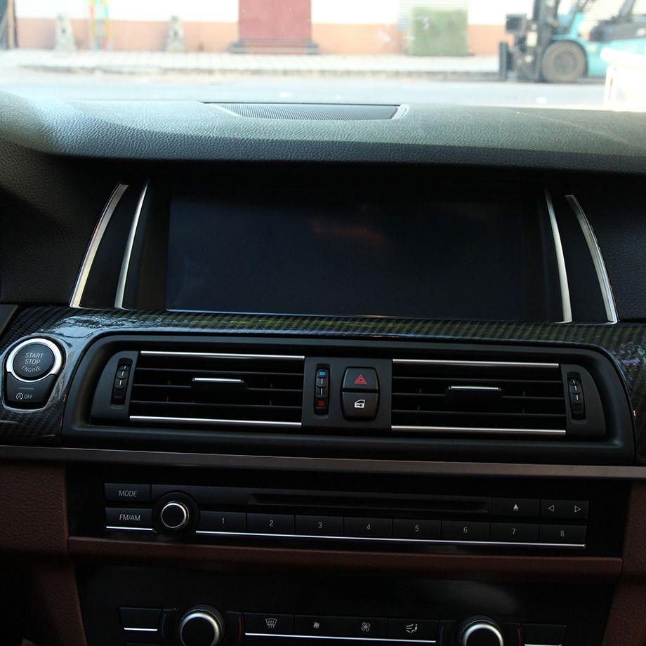 2pcs Chrome Navigation Frame Trim For Bmw F10 5 Series 2014 2015