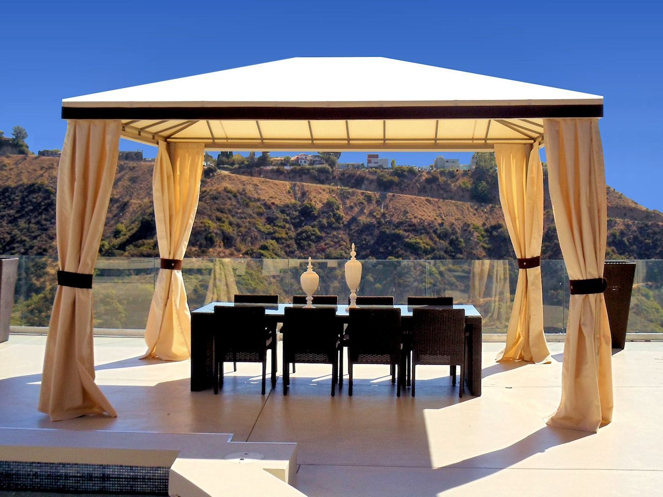 Custom Pool Cabanas By Superior Awning Let The Sun Shine Outdoor Shade Residential Awnings Covered Patio