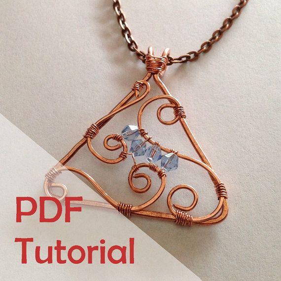 Triangle Swirl Pendant Tutorial, Jewelry Wire Wrapping Tutorial ...