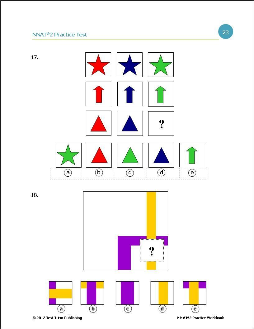 Practice Test For The Nnat 2 Level B Nnat Test For Kids Testing Gifts
