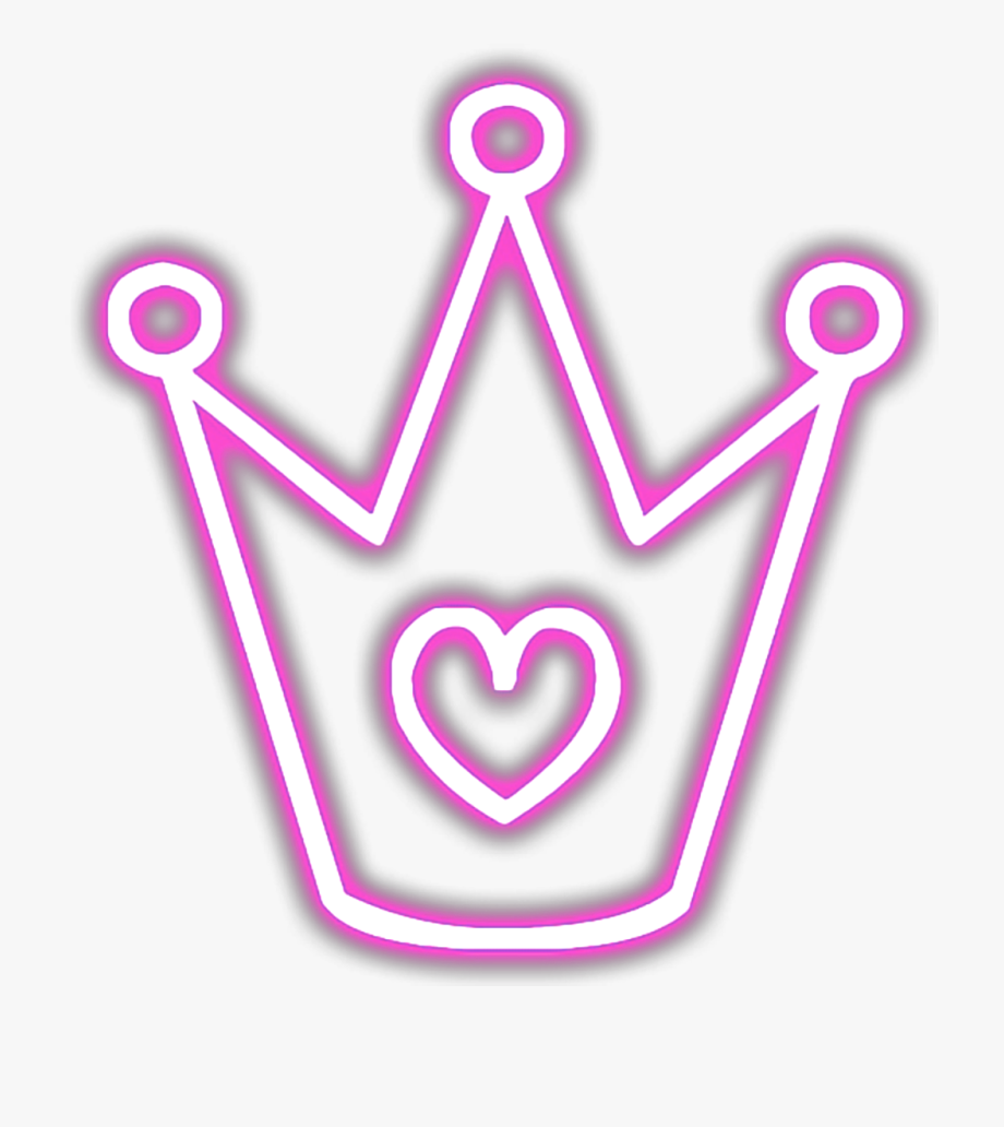 Download And Share Ftestickers Crown Neon Luminous Glowing Pink Neon Glowing Crown Png Cartoon Seach More Similar Free Trans Neon Glow Crown Png Neon