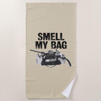 Smell My Bag Hockey Stench Beach Towel Zazzle Com Beach Towel My Bags Bags