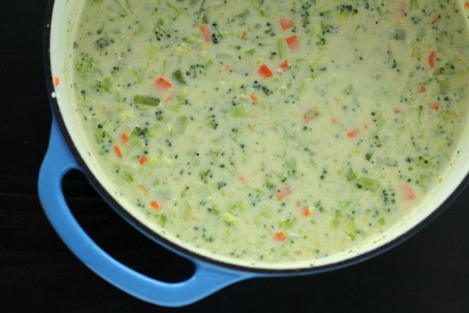 Low fat version of creamy veggie soups!
