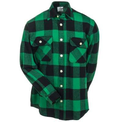 Rothco Men's 4739 GRN Green/Black Buffalo Plaid Flannel Shirt ...
