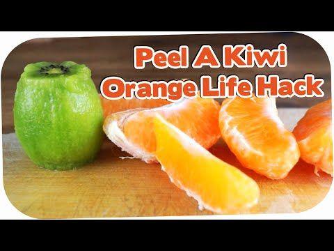 How to Peel a Kiwi or Orange The Fastest Way! LIFE HACK - YouTube